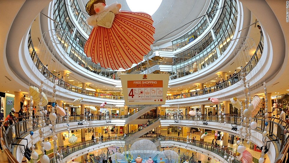 Bigger is better in the mind of Kuala Lumpur shopper's ethics. Three of the world's 10 largest malls are in Kuala Lumpur, and the number one mall Utama has more than 650 shops, Asia's largest indoor rock climbing facility and a massive rooftop garden.