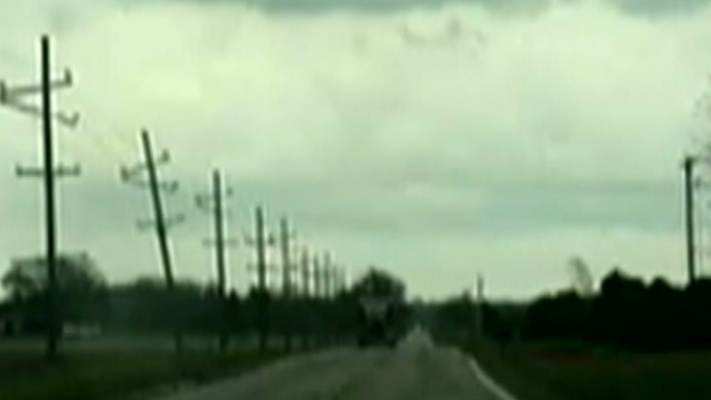 Tornado on the ground in Illinois
