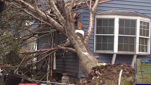 Storm eyewitness: Roofs were blown off