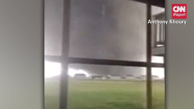 Startling video of tornado touching down