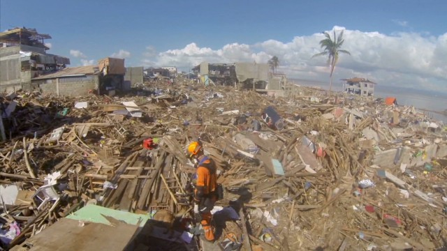A bird's-eye view of Haiyan devastation