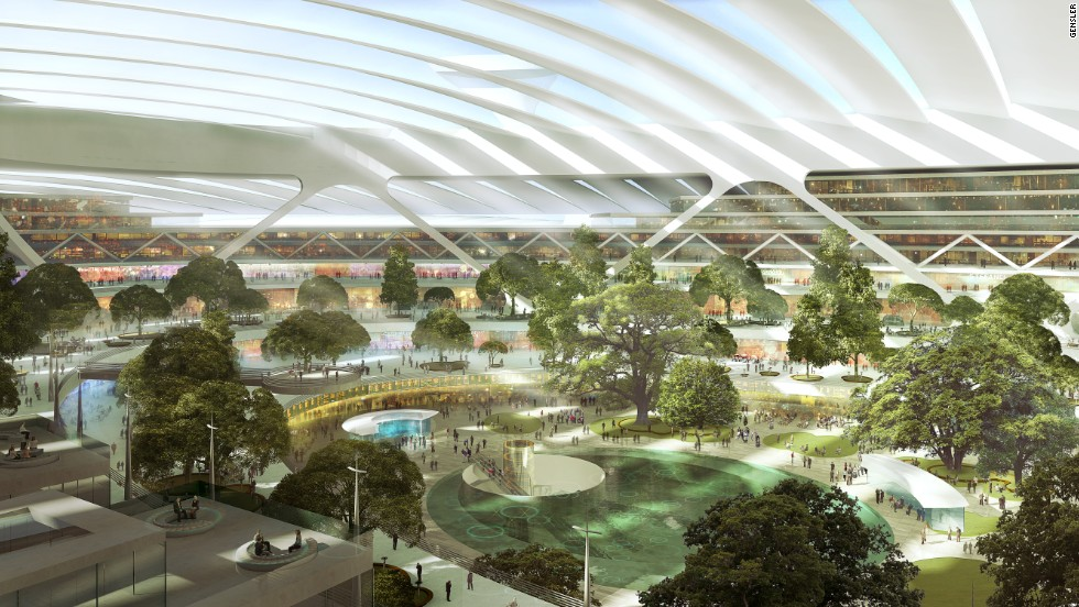 Natural light to fill the terminals, allowing trees and lawn to grow -- and giving passengers more to look at than retail franchises.