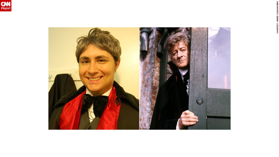 "<a href=""http://ireport.cnn.com/docs/DOC-1060747"">Jared Claxon's</a> favorite Doctor is the third, played by Jon Pertwee. "" I watched reruns of Three on PBS when I was a wee lad,"" said the market researcher from Lake Helen, Florida. He was cosplaying the Third Doctor when he met his now fiancee."