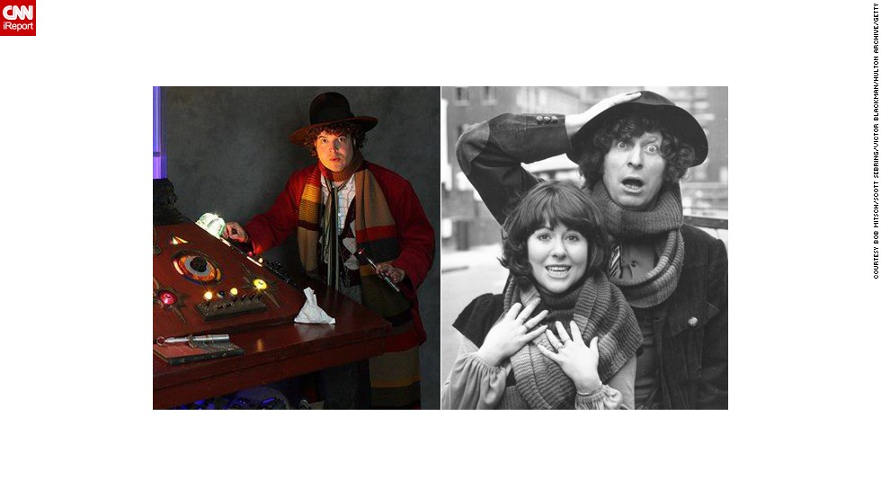 "<a href=""http://ireport.cnn.com/docs/DOC-1061592"">Bob Mitsch</a> of Pasadena, California, can often be seen at fan conventions portraying the Fourth Doctor. Tom Baker is quite popular, having played the Doctor longer than anyone. ""He'll always be the one, the only and the definitive to me despite discovering and appreciating other Doctors over the years."""