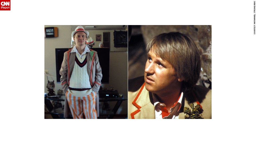 "<a href=""http://ireport.cnn.com/docs/DOC-1061158"">Nathaniel Strong</a>, here cosplaying Peter Davison's Fifth Doctor, said his life has not been the same since discovering ""Doctor Who"" a few years ago. The lesson he takes away from it is, ""Even if you think little of yourself you can make a world of a difference."""