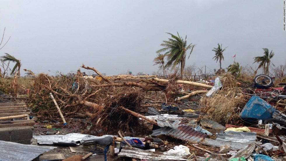 Many people lost everything they owned in the space of a few hours, as this image from Tacloban on November 14 shows.