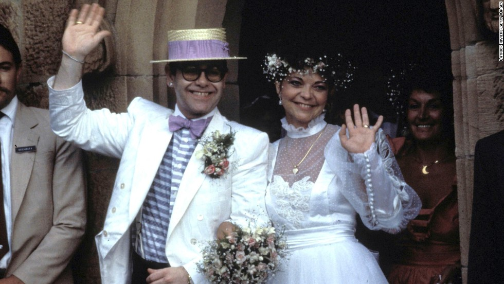 John and Renate Blauel leave St. Mark's Church in Australia after their wedding ceremony in 1984. The couple divorced in 1988.