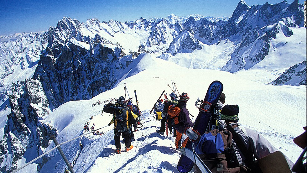 "Aiguille du Midi translates as ""needle of noon."" The mountain gets its name from its tapered shape but also from the fact that if you view it from Chamonix, it's approximately noon when the sun passes over the summit. <strong>More: <a href=""http://edition.cnn.com/2013/01/21/travel/europe-budget-ski-resorts/index.html""><strong></strong>Europe's best budget ski resorts </a></strong>"