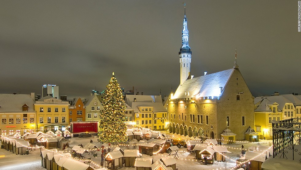 "With its narrow streets, medieval buildings and quaint Christmas markets, the city of Tallinn resembles a scene from a Christmas card. The Christmas market in the Town Hall Square is one of Europe's prettiest. <strong>More: <a href=""http://travel.cnn.com/europes-8-best-christmas-markets-671646""><strong></strong>8 top Christmas markets in Europe </a></strong>"