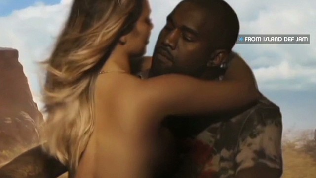 Kim K goes topless in Kanye's new video