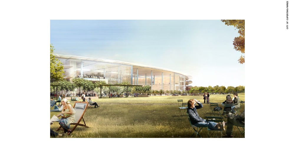 Employees will be able to enjoy the parkland on both the inside and outside of the ring. There's also an elaborate fitness center just north of the main building.