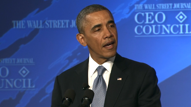 """America is poised for a breakout,"" President Obama said today at a Wall Street Journal conference."