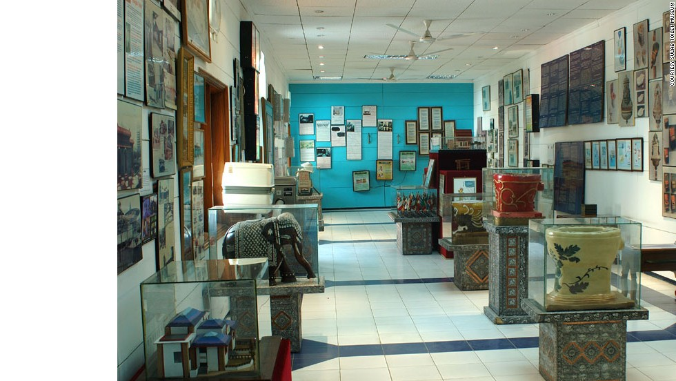 "This Indian toilet museum examines the evolution of the lavatory from 3000 B.C. to present day. On display are antiquated toilets, including ornately painted medieval urinals and ancient stoneware chamber pots, juxtaposed with futuristic models. <a href=""http://travel.cnn.com/explorations/play/7-wackiest-museums-asia-464206"" target=""_blank"">Read more: 7 wackiest museums in Asia</a>"