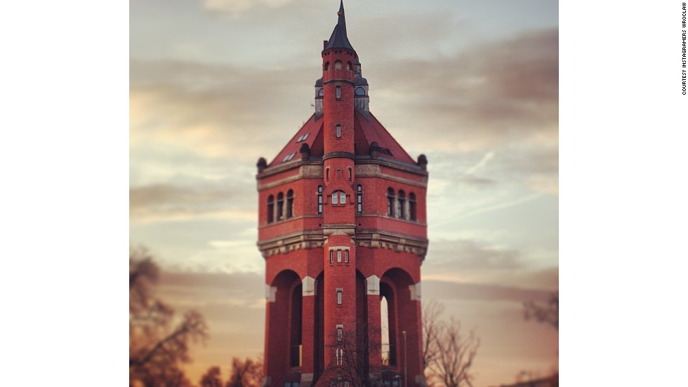 Modeled on a medieval castle, this striking water tower is only a short tram ride south of central Wroclaw and makes for a fantastic photo opportunity on a clear day -- as evidenced by this handy snap.