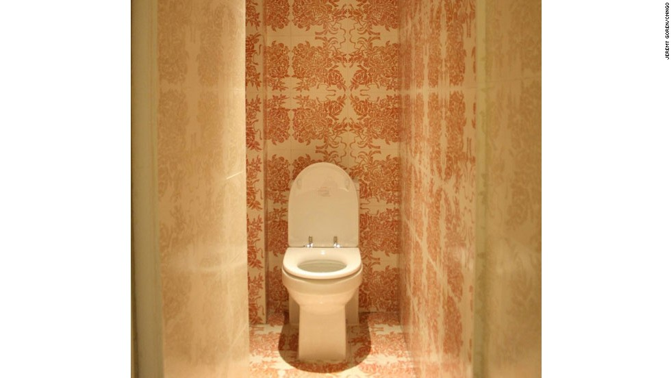 """The swirly patterns on the toilets at MoCa in Shanghai are actually scrawled tirades of obscenities about life. Conceived by Chinese artist Tsang Kin-Wah (曾建华) especially for Art Lab, the art is entitled """"Pretty S**t -- Piss Pretty."""" As Tsang explains, """"The s**t is everywhere, even at your most private moment and space ..."""" <a href=""""http://travel.cnn.com/shanghai/play/5-shanghai-bathrooms-you-should-be-busting-use-800961"""" target=""""_blank"""">Read more: Shanghai bathroom fashion statements</a>"""