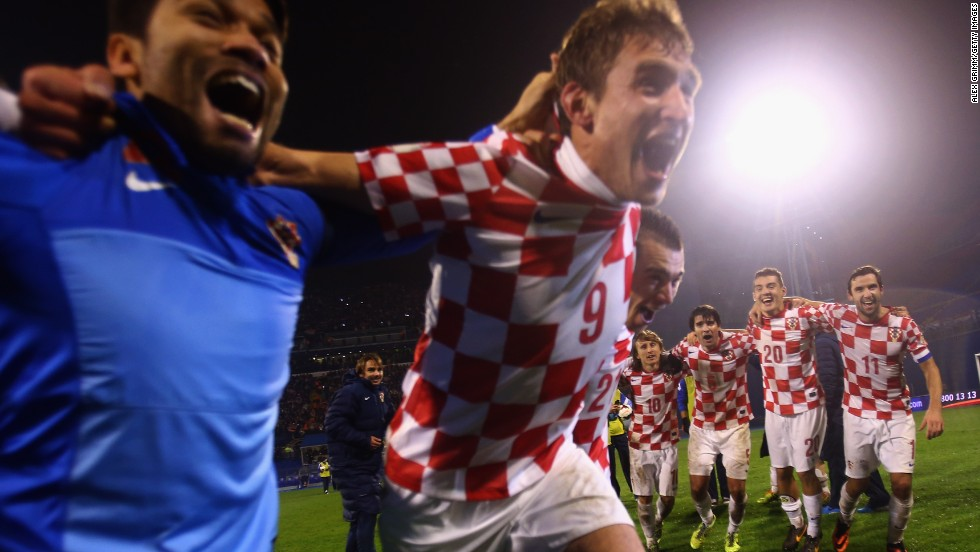 Even though Mandzukic is likely to miss Croatia's opening World Cup match, nothing could disguise the team's deilght at reaching their first World Cup since 2006.