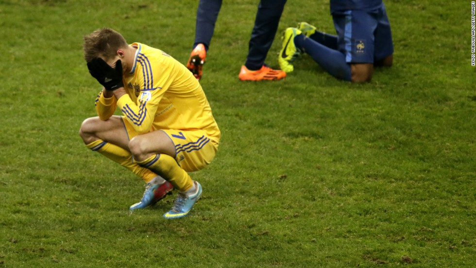 Ukraine winger Andriy Yarmolenko faces up to the fact that all the hard work in a lengthy qualifying campaign has come to nothing.
