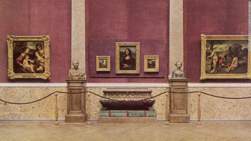 The Mona Lisa appears in the Louvre in 1929. Today, she is the jewel in the museum's crown, helping attract millions of visitors each year.