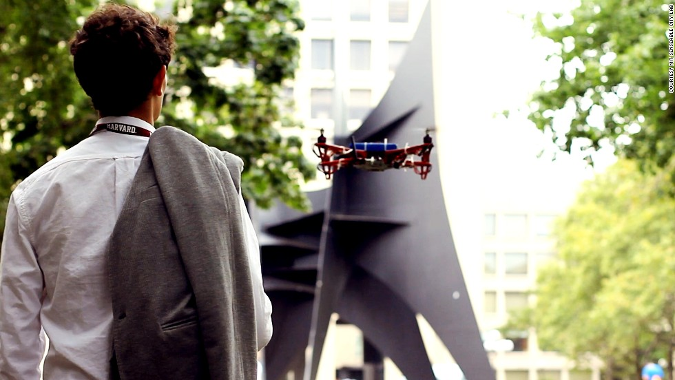 Meet SkyCall, a flying robot that guides you to your destination. Find out how it works...