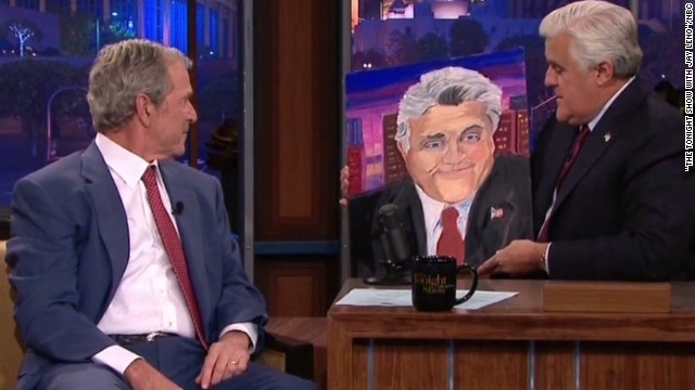 See George W. Bush's painting for Leno