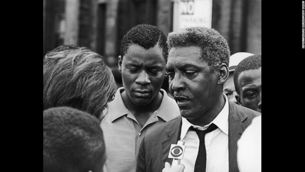 "Bayard Rustin, right, ""was an unyielding activist for civil rights, dignity, and equality for all,"" according to the White House. Rustin died in 1987."