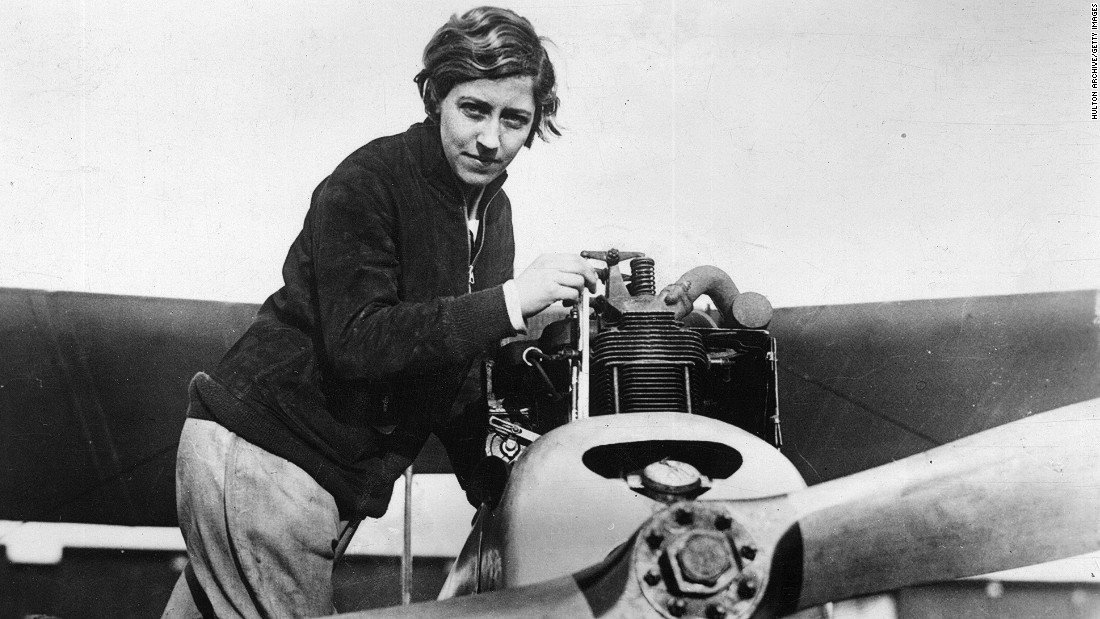 British aviator  Amy Johnson was well known for her daredevil antics. At the age of 26, she was the first female pilot to fly alone from Britain to Australia.