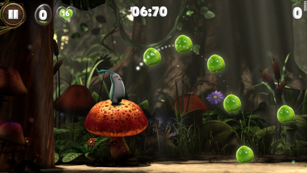In Snailboy you play as a snail whose shell has been stolen by the evil Shadow Gang. The player has to jump and slide across 40 levels to get the shell back.