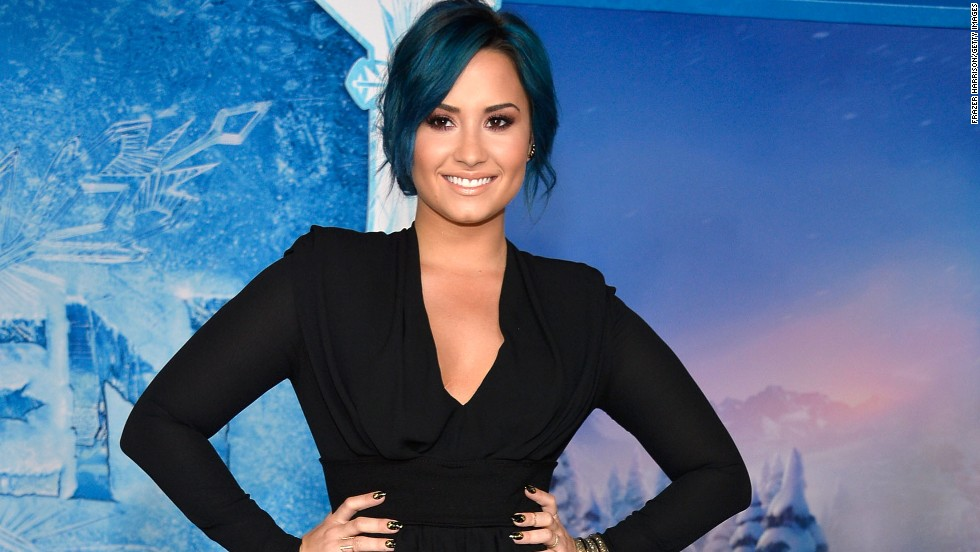 "Demi Lovato test drives a new hue at the November 19 premiere of ""Frozen"" in Hollywood."