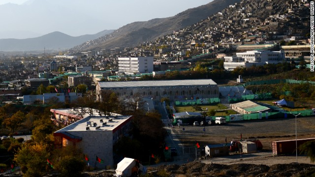 The Afghan Loya Jirga is meeting on these premises in Kabul. Thousands of chieftains and politicians will attend.