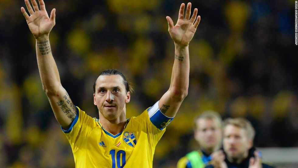 "Sweden's forward Zlatan Ibrahimovic will have to watch the tournament at home -- that's if he's even interested. He told reporters: ""A World Cup without me is nothing to watch so it is not worthwhile to wait for the World Cup."" <br />"