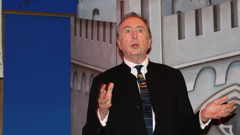"Eric Idle appears with his fellow Pythons at the Playhouse Theatre in London to announce a comeback concert. ""We waited until demand died down"" before returning, he joked."