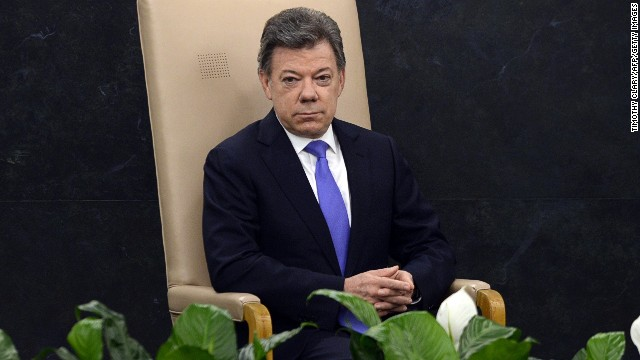 Juan Manuel Santos Calderon in New York on September 24, 2013.