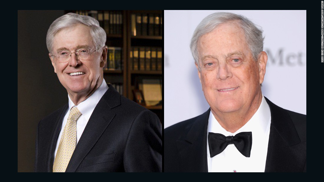 The Koch brothers -- Charles, left, and David -- are known for making significant financial contributions to conservative presidential candidates. <br /><br />They have reportedly not donated to any 2016 super PACs so far.