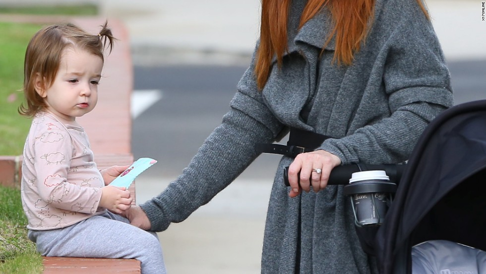 Alyson Hannigan takes her daughter Keeva for a walk on November 20.