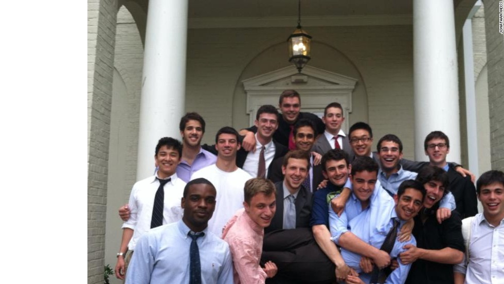 Weiss, bottom right, with the spring 2013 Alpha Tau Omega pledge class.