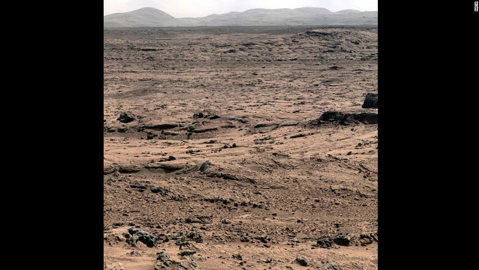 A #nofilter image of the surface of Mars, courtesy NASA's Mars Curiosity Rover.