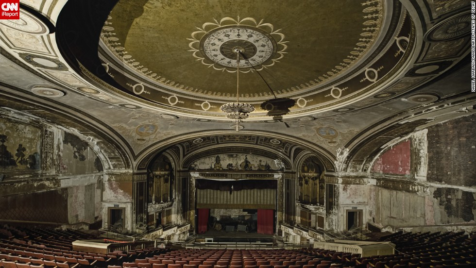 Their explorations brought them to this desolate theater in Connecticut.