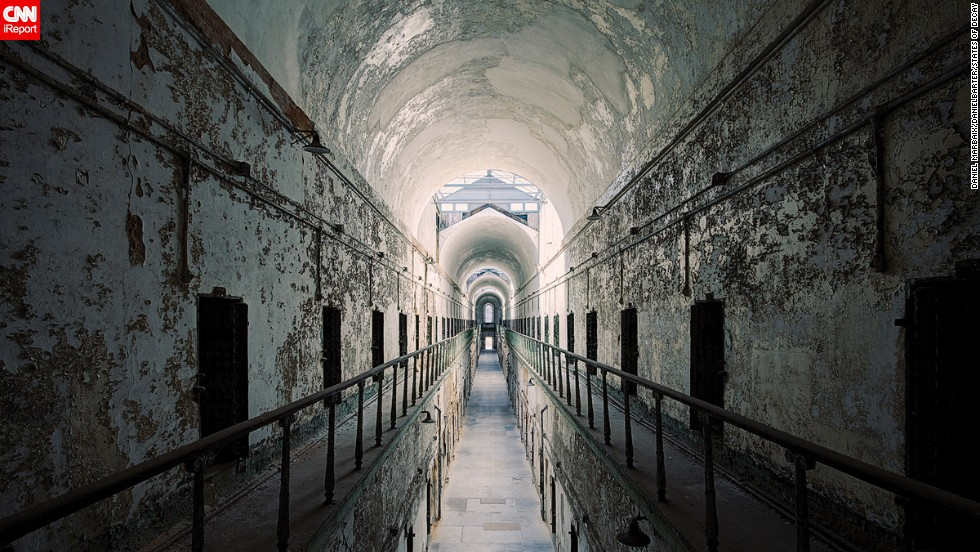 "<a href=""http://www.easternstate.org/"" target=""_blank"">Eastern State Penitentiary</a> in Philadelphia closed in 1971, making for eerie pictures of cellblocks from the defunct prison."