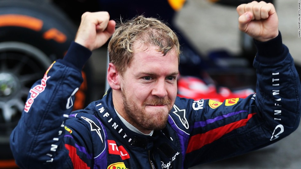 Sebastian Vettel completed his ninth straight victory and 13th of a triumphant 2013 season at the Brazilian Grand Prix at Interlagos.