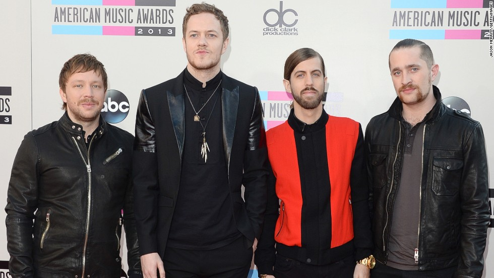 Ben McKee, Dan Reynolds, Dan Platzman and Wayne Sermon of Imagine Dragons