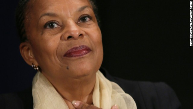 French justice minister Christiane Taubira was the subject of racist taunts comparing her to a monkey.