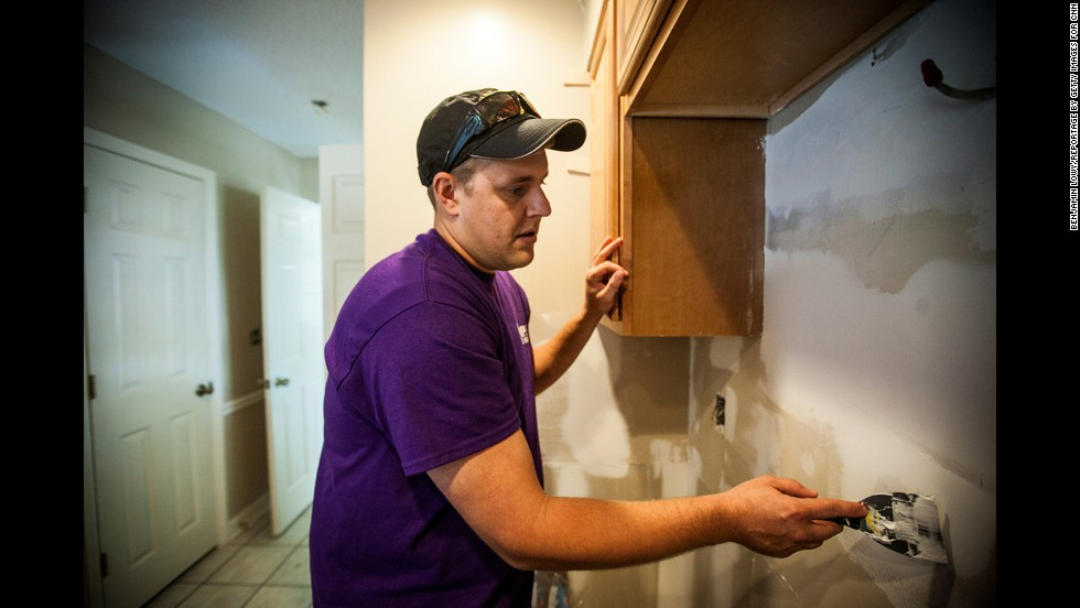 "<a href=""http://purplehearthomesusa.org/"" target=""_blank"">Purple Heart Homes</a>, using donated labor and materials, will help any disabled veteran who is a homeowner. All repairs are free."