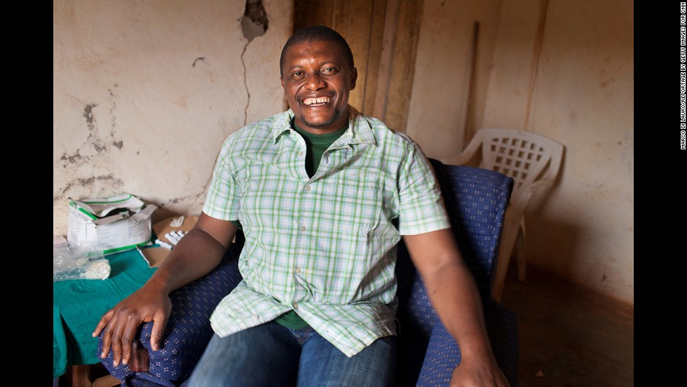"""To make people laugh, to reduce the pain, that's why I'm doing this,"" said Bwelle, who spent much of his youth escorting his father to overcrowded clinics and hospitals that weren't equipped to help him."