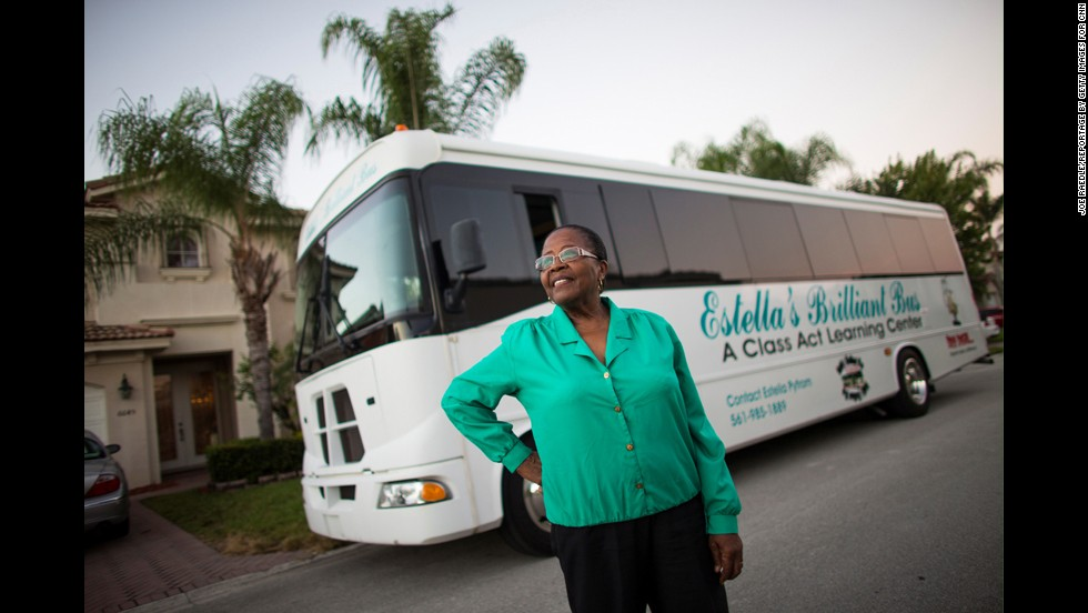 "CNN Hero Estella Pyfrom <a href=""http://www.cnn.com/2013/04/04/us/cnnheroes-pyfrom-brilliant-bus/index.html"">used her life savings</a> to create ""Estella's Brilliant Bus,"" a mobile computer lab that provides tutoring for thousands of low-income students in Palm Beach County, Florida."