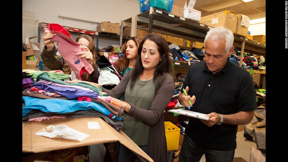 Gletow helps find and organize gifts at the One Simple Wish offices in Trenton, New Jersey. Since 2006, Gletow and her husband, Joe, have been foster parents to several children.