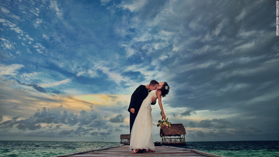 "Ridout snapped Toronto couple Jennifer and Thomas on the island of Cayo Guillermo, Cuba. ""This was taken after the wedding as we toured the resort looking for locations,"" says the photographer."