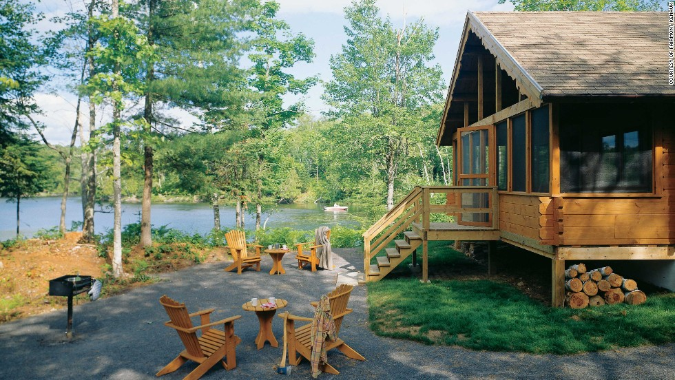 The Fairmont Kenauk is completely off the grid in rural Quebec: the chalets on the property are reliant entirely on solar power.