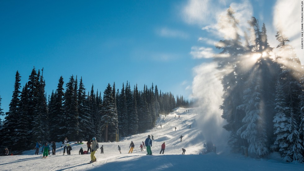 """Blackcomb Glacier is skiable during Canada's warm summer months and covers the largest variety of terrains in North America, making it a favorite of pro skier Mike Douglas, the """"Godfather of free-skiing."""""""
