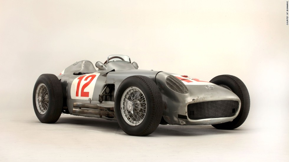 In July, Bonhams sold a 1954 Mercedes-Benz W196 for $32 million,  a new record price for any car sold at auction. The race car was driven by five-time F1 world champion Juan Manuel Fangio.