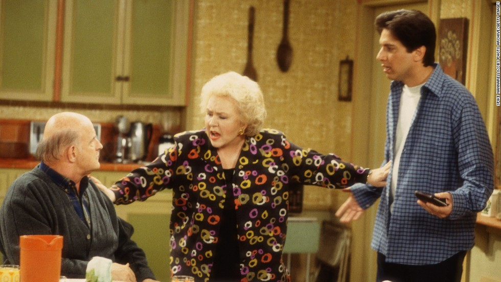 "We imagine Marie Barone (Doris Roberts) had to separate hubby Frank Barone (the late Peter Boyle) and son Ray (Ray Romano) during the holidays on ""Everybody Loves Raymond."" In the comedy's third season, Marie decides to cook a tofu turkey for her entire family. Not only are the men horrified by the lack of meat at the table but daughter-in-law and ally in the tofu Thanksgiving, Debra (Patricia Heaton), is also horrified by the taste."
